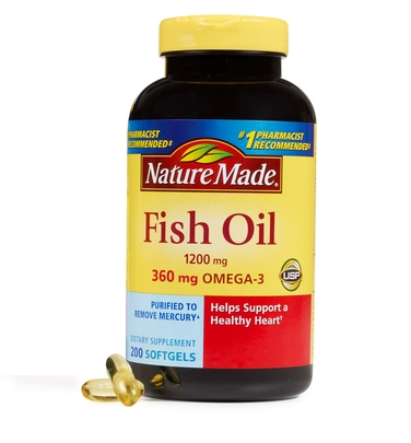 Nature made fish oil 1200 mg 200 softgels for Costco fish oil