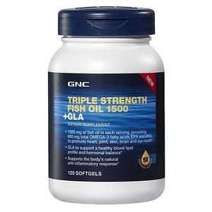 Gnc triple strength fish oil 1500 gla 120 softgels for Gnc fish oil