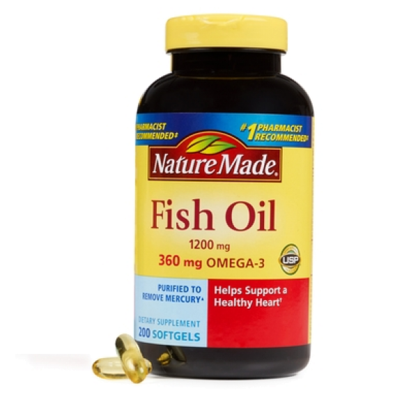 Nature made 1200 mg 200 for Nature made fish oil costco