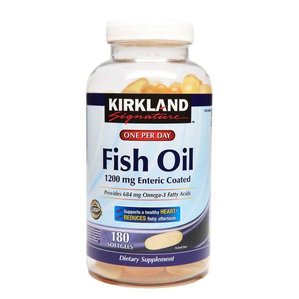 Kirkland 1200mg 180 for Kirkland fish oil review