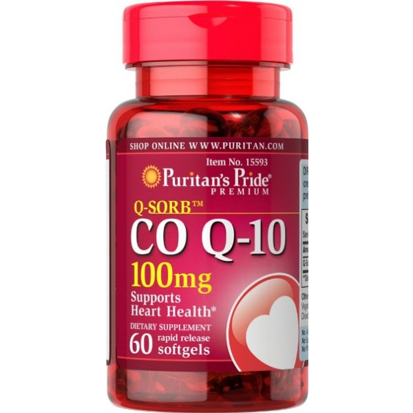 Puritan39;s Pride 普丽普莱 辅酶CoQ10软胶囊 100mg 60粒 保护