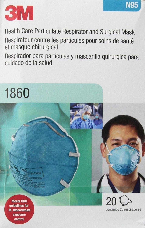 1860 1860 N95 防病毒防颗粒物口罩20片装 3m 3m 防病毒防颗粒物口罩20片装 N95