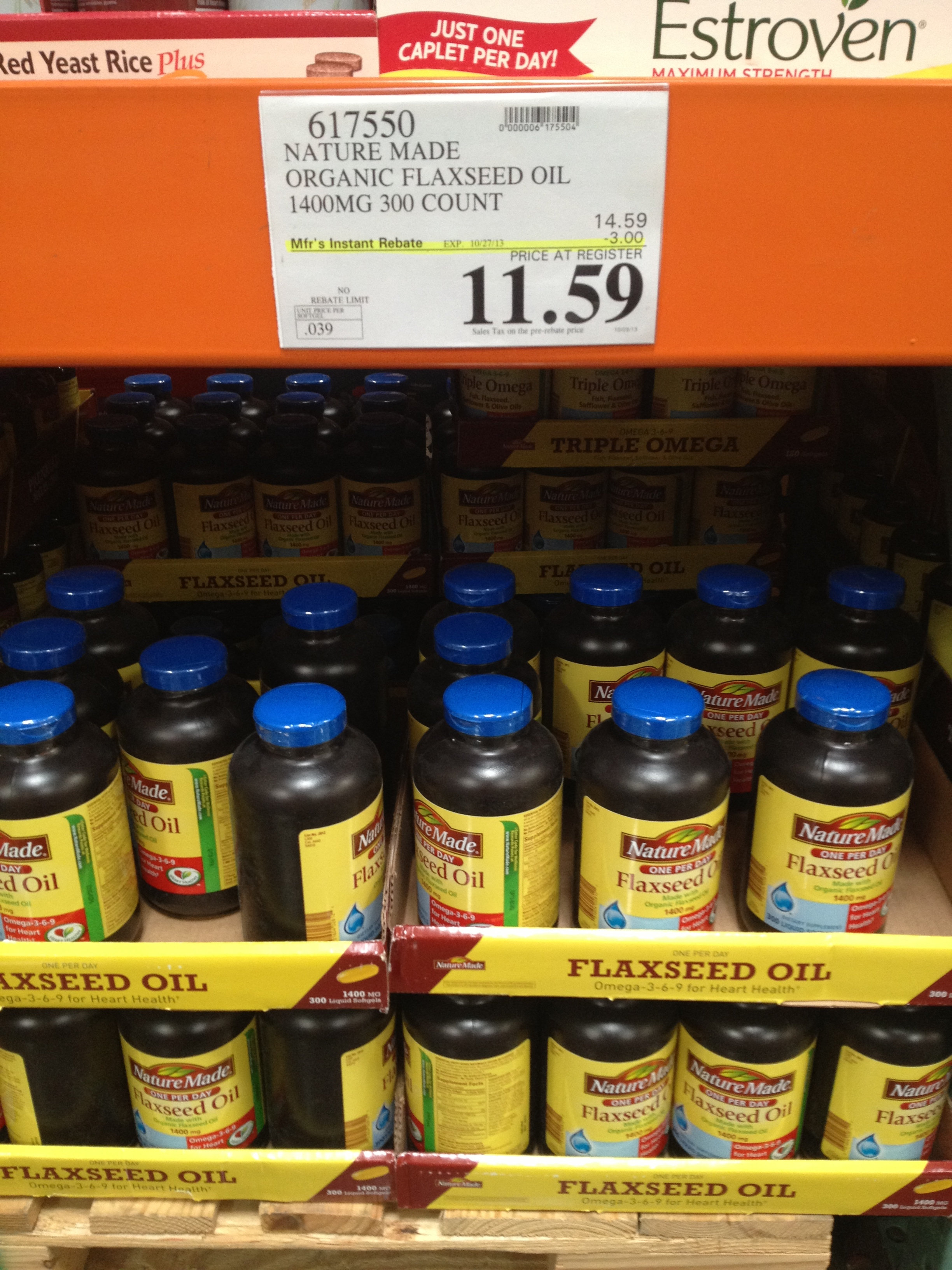 Nature made 1400mg 300 for Nature made fish oil costco