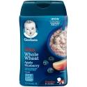 Gerber嘉宝米粉3段苹果蓝莓全麦婴幼儿辅食三段宝宝米糊 227g