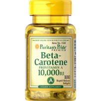Puritan's Pride 普丽普莱 β-胡萝卜素软胶囊 10,000 IU 100粒 保护眼睛改善皮肤粗糙