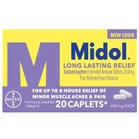 拜耳Midol 痛经片女性月经疼痛缓解无咖啡因知乎推荐20片紫色加强型
