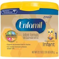 Enfamil 美赞臣 金樽1段(0-12个月)婴儿配方奶粉 629g 新包装