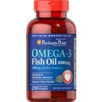 Puritan's Pride 普丽普莱 OMEGA-3 深海鱼油软胶囊 1000mg 250粒 保护心血管