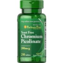 Puritan's Pride 普丽普莱 吡啶甲酸铬(不含酵母) 200mcg 250粒 降血糖