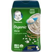 Gerber嘉宝 美国婴幼儿一段有机大米米粉辅食初期227g/罐