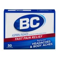 BC阿司匹林快速缓解疼痛粉末 快速缓解因头痛 身体疼痛和发烧引起的疼痛 含有咖啡因 50粒