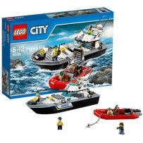 乐高城市系列60129警用巡逻艇LEGO CITY 积木玩具拼插益智