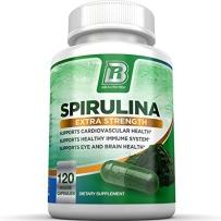 BRI Nutrition螺旋藻软胶囊120粒 养胃膳食纤维螺旋藻片