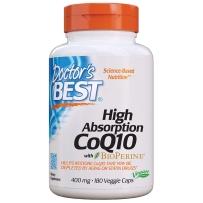 Doctor's best多特倍斯 高吸收辅酶Q10 保护心血管健康卵巢备孕软胶囊 400mg180粒
