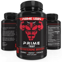 Prime Labs男士睾酮补充剂(60粒) - 天然耐力,耐力和强度增强剂 - 增强代谢