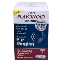 Lipo-Flavonoid Plus神经性耳鸣美泥尔综合症75粒夜用型夜间修复脂类黄酮