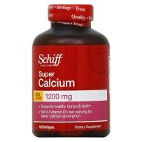 Schiff舒钙软胶囊1200mg 成人维生素D3 钙片 120粒