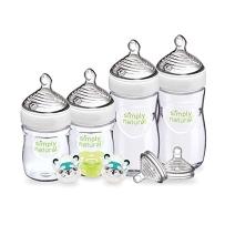 NUK 简单自然实感新生儿奶瓶礼品套装-PP材质宽口径奶瓶