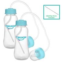 Tinukim免提婴儿奶瓶,Anti-Colic护理系统,266ml(2个 )颜色随机