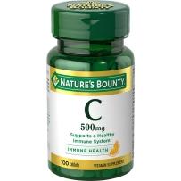 Nature's Bounty自然之宝天然维生素C  500mg100粒 片剂 无糖儿童女性VC维C美白肤色免疫力