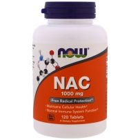 NOW FOODS诺奥N-乙酰半胱氨酸 NAC1000mg 120粒 维护细胞健康