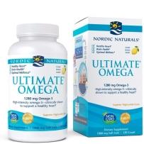 Nordic 顶级Omega-3深海鱼油软胶囊 柠檬味 120粒