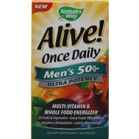 Nature's Way Alive!活力宝50岁以上男性复合维生素矿物质 60片