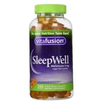 Vitafusion 成人褪黑素咀嚼软糖 3mg 250粒 安神助眠 改善失眠