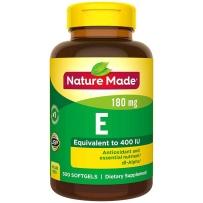 Nature Made 莱萃美 天唯美  水溶性纯天然维生素E 400IU 300粒