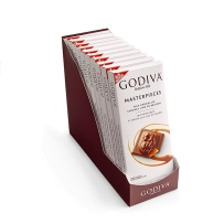 GODIVA歌帝梵Masterpieces系列 白板排块 焦糖味牛奶巧克力90g 2块装