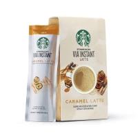 Starbucks 星巴克 VIA 速溶咖啡   Caramel Latte 焦糖拿铁 160g 5条/袋