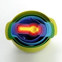 约瑟夫创意彩虹餐具厨具套装九件套