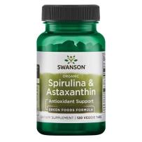 美国 Swanson 斯旺森 有机螺旋藻和虾青素 120片 增强免疫力抗疲劳美白抗氧化