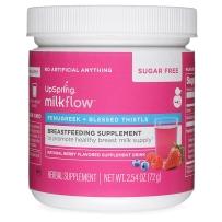 婴尔葆upspring milkflow催乳素哺乳期开奶追奶通乳催奶增奶下奶茶草莓味72g