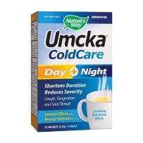 美国 Nature's Way Umcka顺势疗法 冷用 日+夜 柑橘/蜂蜜柠檬风味12包 感冒咳嗽流感
