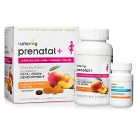 UpSpring - 孕妇产前芒果黄桃软糖复合维生素软糖90粒+DHA鱼油 30粒