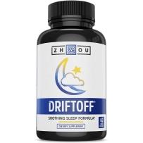 Zhou Nutrition DRIFTOFF 高级睡眠补助缬草 褪黑激素 60粒素食胶囊