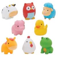 MUNCHKIN麦肯齐宝宝洗澡玩具儿童游泳戏水农场小动物洗澡玩具 8只装