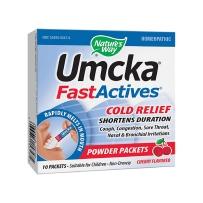 美国 Nature's Way Umcka顺势疗法 快速活化 伤风缓解 樱桃味 粉状10包 感冒咳嗽流感