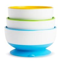 Munchkin 麦肯奇彩色吸盘碗 三只装