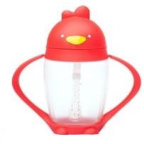 Lollaland Lollacup  儿童小鸡翻盖吸管杯 红色