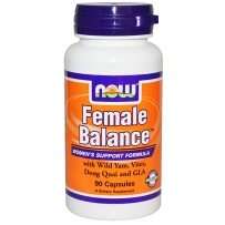 美国NOW Foods 诺奥 女性平衡野生山药GLA膳食补充剂90粒