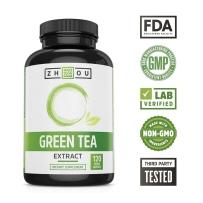 Zhou Nutrition 绿茶补充剂EGCG腹部脂肪燃烧器减肥 120粒减肥不伤胃不伤身