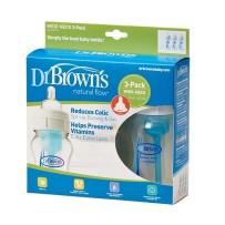 Dr. Brown's 布朗博士 好流畅宽口奶瓶 240ml 三只装