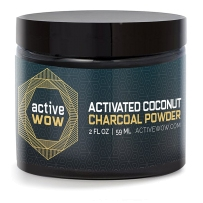 Active Wow 纯天然有机木炭速效美白洗牙粉 59ml 不能替代牙膏