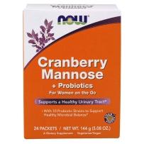 美国NOW Foods 诺奥 女性妇科蔓越莓甘露糖益生菌粉24包泌尿感染尿道炎症