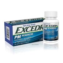 Excedrin PM不含咖啡因埃克塞德林快速缓解片舒缓片夜间睡眠援助100片
