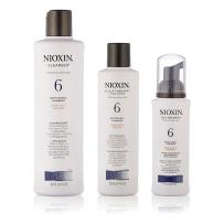 NIOXIN俪康丝6号防脱生发洗发水护发素精华液三件套 针对粗硬重度脱发