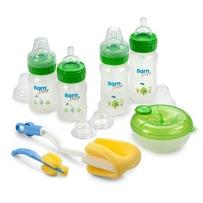 Born Free宽口塑料奶瓶原装防胀气不含BPA进口礼品套装