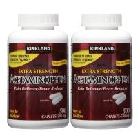 Kirkland 可兰 乙酰氨基酚-扑热息痛 500mg*500粒*2瓶用于发热缓解轻中度疼痛